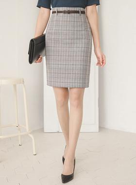 Scottish Check Belt Skirt
