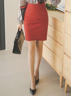 Side Dart Shearing Tulip Skirt (fall)