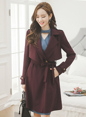 Breeze Antique Button Wing Trench Coat