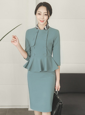 Prosom Double-button Pepper Dress