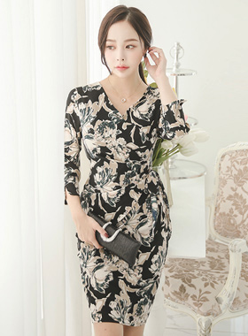 Impress Flower Shirring Lab Dress