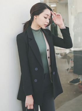 Button color Double Tailored Jacket