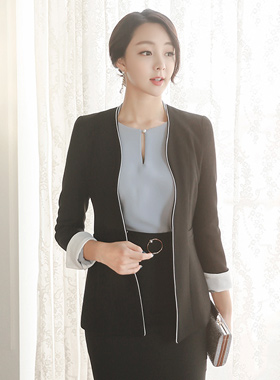Wave Piping color combination Jacket
