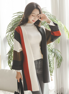 Bold color combination Rouge Cardigan
