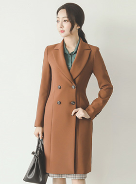 Classic incision double long coat
