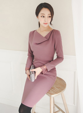 Race Cuff Drape Dress II