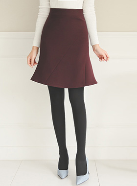 Rectangular Incision Ruffle High Ad Skirt (winter)