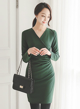 Pinto shirring wrap Dress (fall)