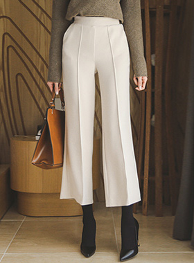 Vanilla pin tuck Wide Pants