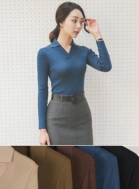 Basic V-neck Kara Knit (Long Sleeve)