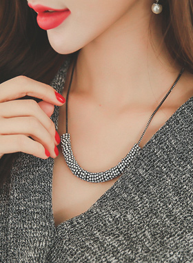 Gloss Cubic Ring Bundle Necklace