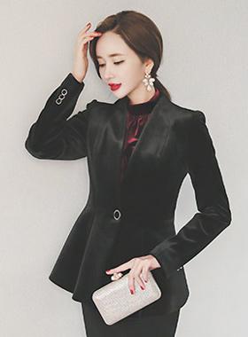 Folded Velvet Jacket