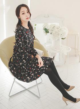 Petit Flower napping Ruffle Dress