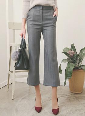 Herringbone Semi-Wide Pants