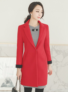 minimal retail coloration incision Coat