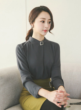 Folded Metal Square Blouse