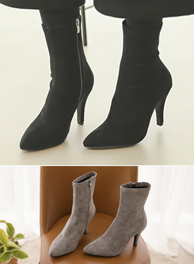 Suede Span Sox ankle boots