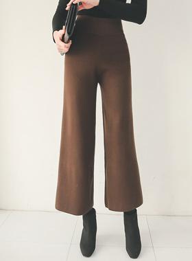 쫀쫀 Wide Knit Pants