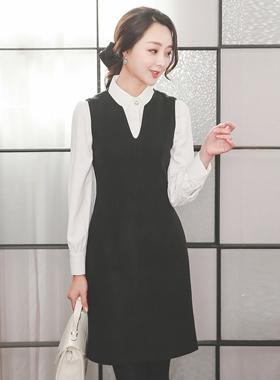 V-neck Soft Aline Wool Dress