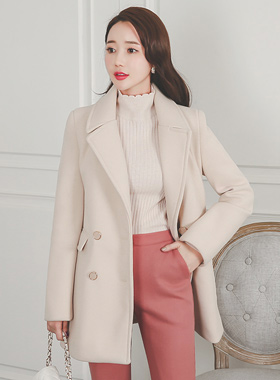 Gold ring Double-button half coat
