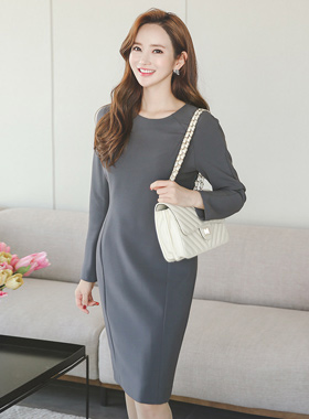 Solid Raglan incision line Dress