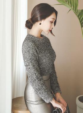 Glitter Metallic Wing Knit Knit