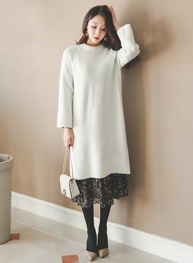 Sponge Long knit Dress