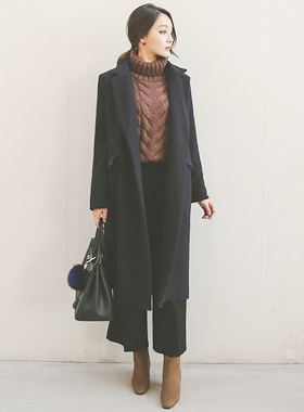 single Tailored overfit Long coat
