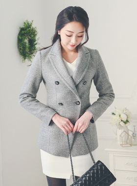 Stitch Taylor Double-button wool jacket