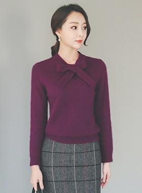 Angora Ribbon Tie Knit