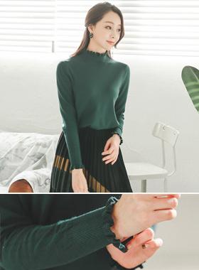 Darling Soft Frill Line Knit