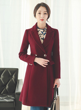 Gold Circle Pearl Button Coat