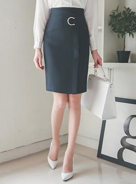 Crescent unique wrap Skirt