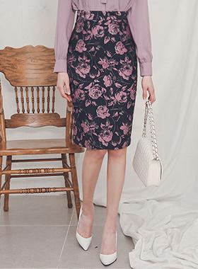oriental jacquard Flower Skirt