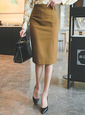 Modern Side Slit Midi Skirt