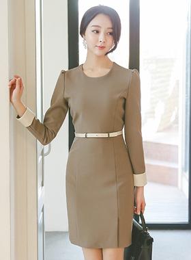 Modern Satin Color Stick Stick Dress
