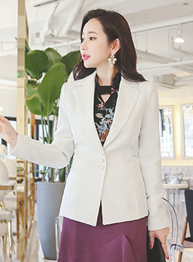 chic triple button Tailored Jacket