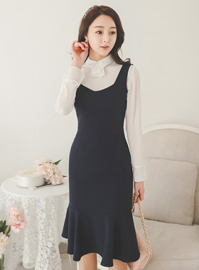 Sweet Heart Neck SUSPENDER Dress