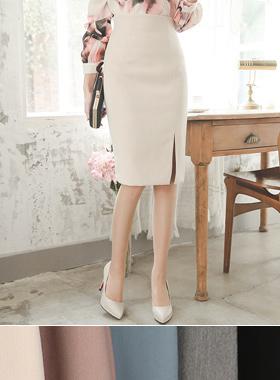 Lady high waist Slit Skirt