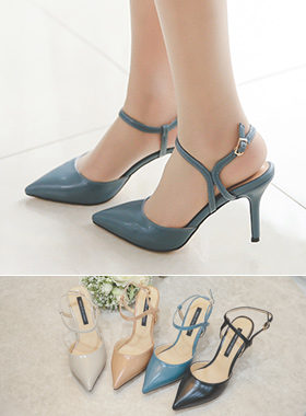 Cyclical Ankle Strap Sling Back Hill