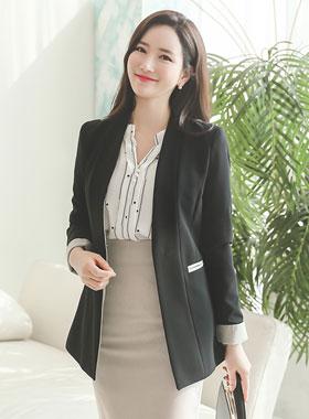 Lip pocket Sleeve color No collar Jacket (spring)