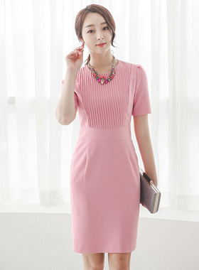 simple pinch pleated dress