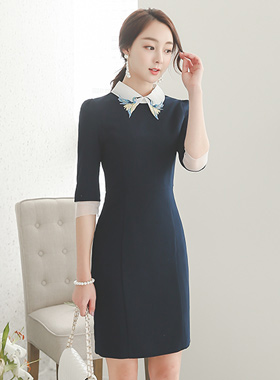Bird motif Kara Dress