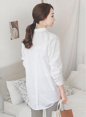 Basic Back Stripe Long Shirt