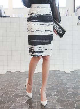 Brush Sketch Skirt
