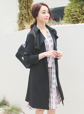 Silky light trench jacket