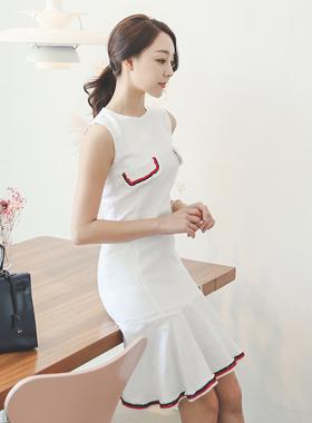 Mariner Blade Ruffle Linen Dress