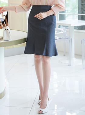 Denim Texture Mermaid Skirt