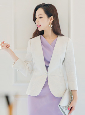 Shine Piping Tweed Jacket