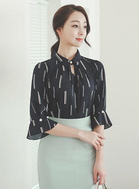 pastel stick pearl blouse